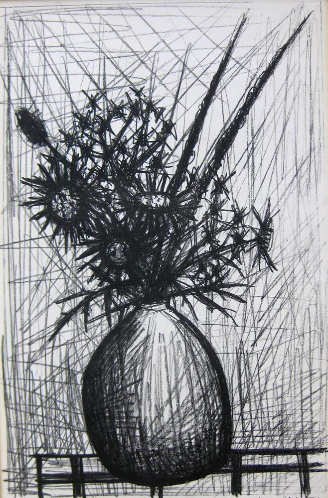 ベルナール・ビュッフェ「あざみ」1952年、リトグラフ、32.5×50㎝