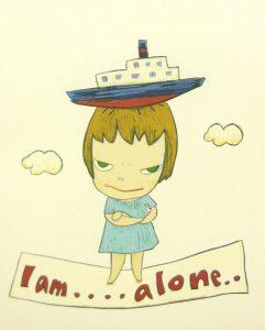 奈良美智「I am.…alone..」リトグラフ