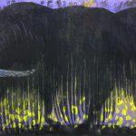 柿本俊文「古往今来」2018年 木版画 60×90cm