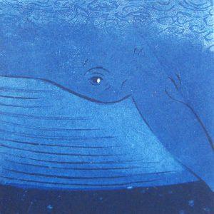 柿本俊文「鯨」2016年 木版画 10×10cm ¥8,640(シート)