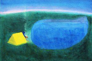 柿本俊文「夜明け」2017年 木版画 30×45cm ¥21,600(シート)