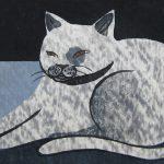 柿本俊文「家にいる猫」2017年 木版画 16×25cm ¥21,600(シート)