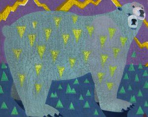 柿本俊文「冬の雷は大いに風吹く」2018年 木版画 41×51.5cm ¥54,000(シート)