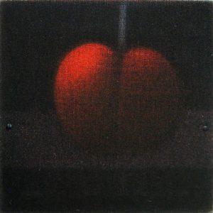 浜口陽三「カリフォルニアチェリー」1987年 カラーメゾチント 3.8×3.8cm