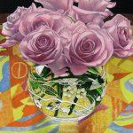 山本桂右「薔薇とタペストリー#1」