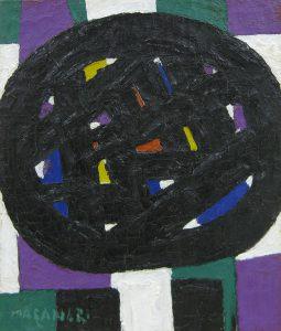 村井正誠「顔」1970年 油彩 3号