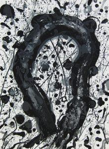 サム・フランシス「天空の詩#3」1986年 リトグラフ 76×56cm