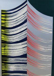 泉 茂「夜の祭」1969年 シルクスクリーン 53.5×38.5cm