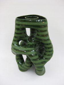 出口絵衣子「花器(緑)」H42×30×30cm