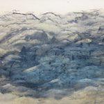 「暮山平林図」1958(昭和33) 38.9×51.2cm