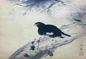 「叭々鳥」1949(昭和24) 34×49.3cm