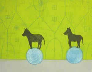 樋勝朋巳「手紙5」2019年 エッチング、アクアチント、ドライポイント 30×39cm ¥27,000