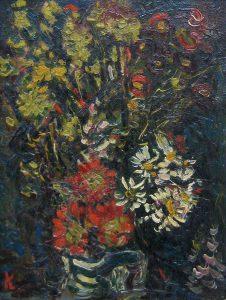 川口軌外「静物(花)」1930年 油彩 3号(27×20,5cm)