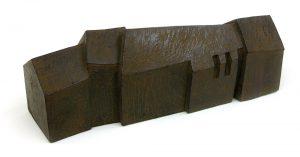 保田春彦「白い風景 XV」2004年 ブロンズ 30×11×H10cm