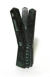 保田春彦「遠い風景 №14」2002年 ブロンズ 4,9×4,2×H12,6cm