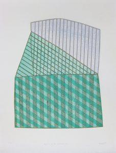 竹﨑勝代「浮遊する山際で」2018年 木版画 48,5×39,5cm