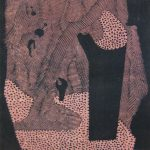 吉田政次「哀愁の日」1957年 木版画 59,5×44cm
