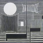 吉田政次「地の泉 №1」1956年 木版画 56,5×82cm