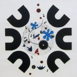 吉田政次「躍動する心 №5」1968年 木版画 47,5×41cm