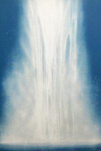 千住博「ウォーターフォール」リトグラフ 60,6×41,9cm