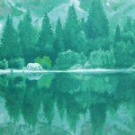 東山魁夷「湖澄む」