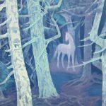 東山魁夷「白馬の森」新復刻版画 61×41,5cm