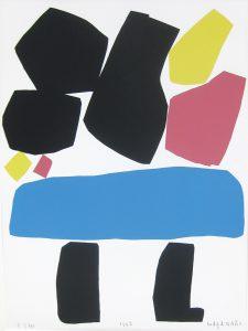 村井正誠「自画像」1993年 シルクスクリーン 61×82cm