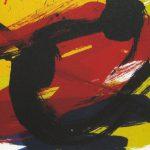 白髪一雄「蘊」1993年 シルクスクリーン 65×85cm