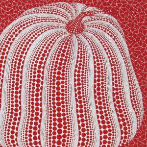 草間彌生「赤色かぼちゃ」1994年 シルクスクリーン 45,5×60,1cm