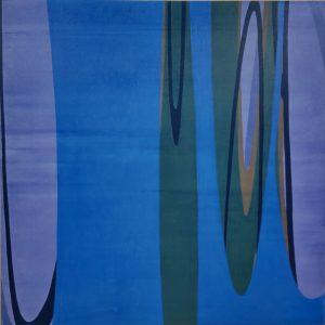 「MILKY BLUE」2020年 油彩・キャンバス 100×100cm(S40号)