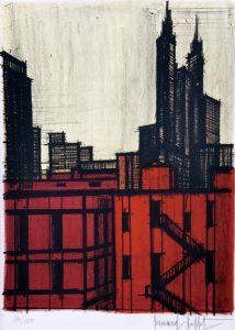 B.ビュッフェ「ニューヨーク#59」1964年 リトグラフ 66×49cm