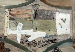 武内明子「本に挟む」2021年 油彩、パステル、アクリル 42×59,4cm